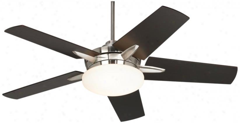 "52"" Casa Endeavor Brushed Nickel Espresso Ceiling Fan (90515-r2175)"