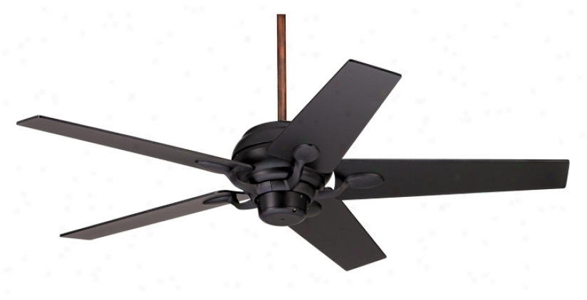 "52"" Casa Optima Matte Black Ceiling Fan (73988-94061)"