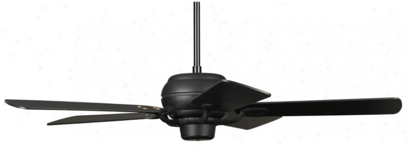 "52"" Casa Optima Matte Black Matching Blades Ceiling Fan (73978-94006)"