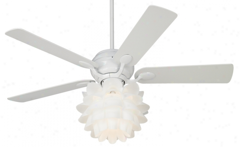 "52"" Casa Optima™ Flower Light Kit White Ceiling Excite (86645-89810-k9774)"