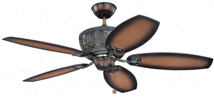 "52"" Casa Troubadour&##8482; Dark Walnut Ceiling Fan (00493)"