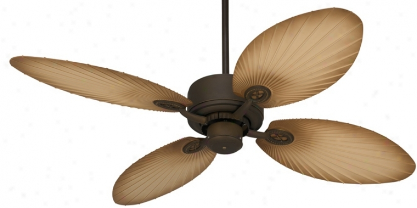 "52"" Casa Vieja Aerostat Palm Bronze Outdoor Ceiling Fan (v0201-v0206)"