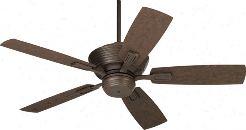 "52""  Casa Vieja Bal Harbour Black Rust Outdoor Ceiling Fan (m5079)"