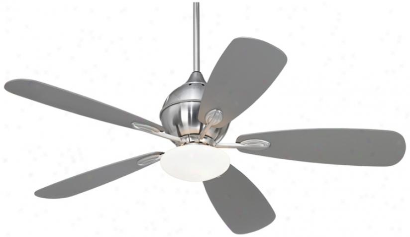 "52"" Casa Vieja Croma Brushed Nickel Ceiling Fan (r0077)"