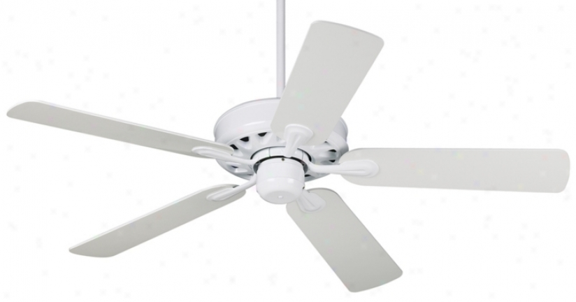 "52"" Casa Vieja Intrepid White Ceiling Fan (54170)"