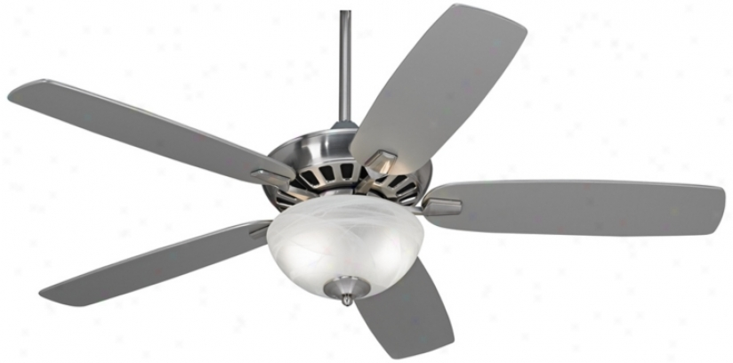 """52"""" Casa Vieja Journey Brushed Nickel By the side of Light Ceiling Fan (m2750-t4201)"""