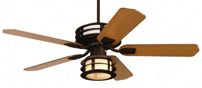 "52"" Casa Vieja Outdoor Mission™ Damp Listed Fan (07246)"
