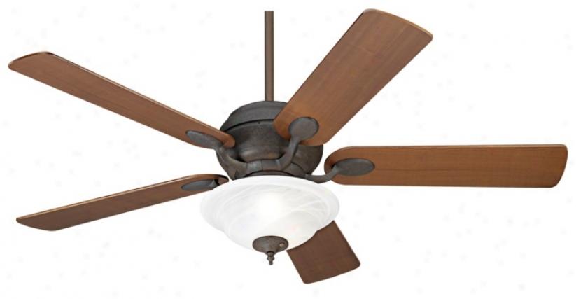 "52"" Casa Vieja® Black Rust Ceiling Fan (86814-00292-08607)"