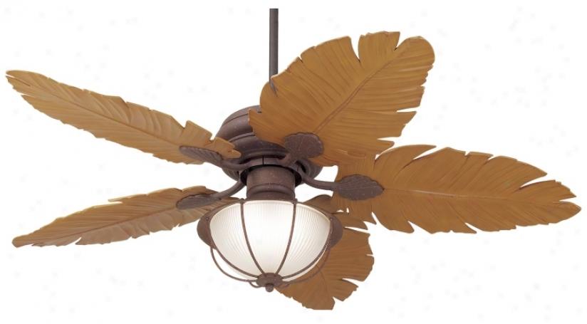 """52"""" Casa Vieja&#175 Tropical Leaf Ceiling Fan (53438-24486-24976)"""
