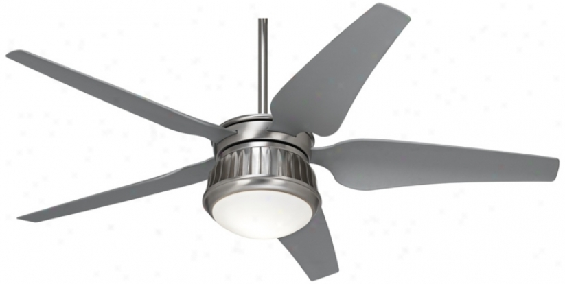 "52"" Possini Euro Prowler Steel Damp Rated Ceiling Fan (u9429)"