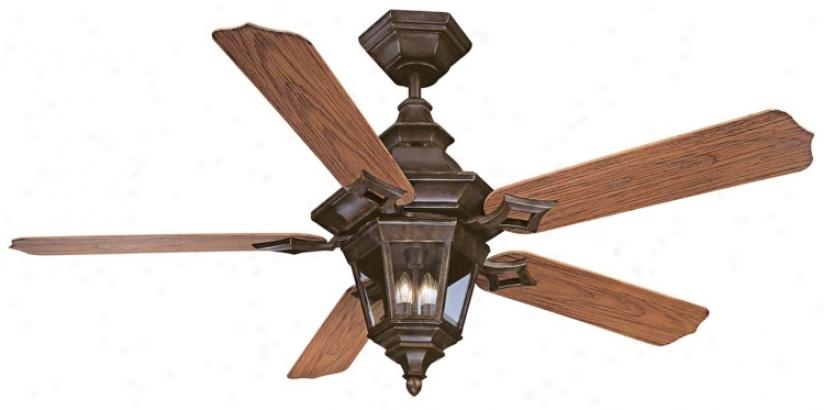 """52"""" Savoy House Chatsworth Walnut Patina Ceiling Fan (n1989)"""