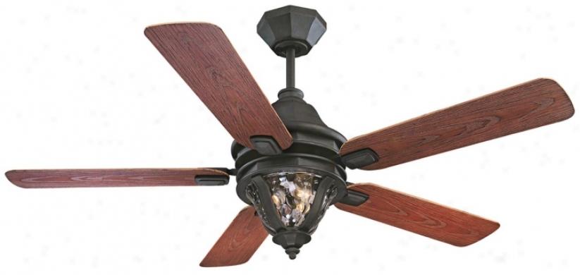 "52"" Savoy House Montecello Horseshoe Black Outdoor Fan (n2001)"