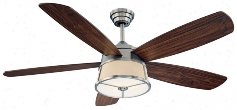 "52"" Saovy House San Remo Satin Nickel Ceiling Fan (n2103)"
