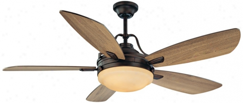 "52"" Savoy House Santa Ana English Bronze Finish Ceiling Fan (n5175)"
