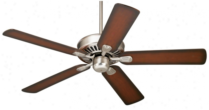 52&quoy; Windstar Ii™ Brushed Steel Ceiling Fan (34053-56255)