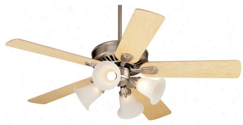 """52"""" Windsfar Ii™ Brushed Steel Finish Ceiling Fan (34053-00298-74450-01087)"""