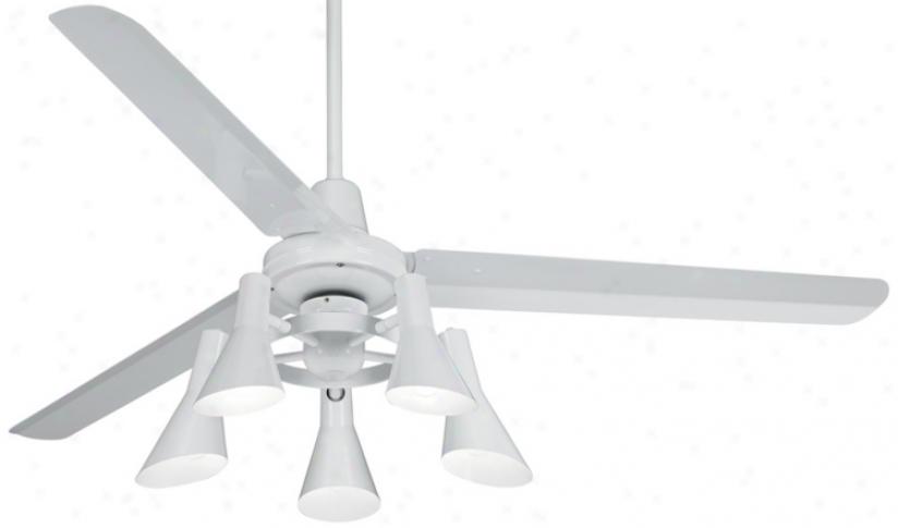 "60"" Casa Vieja Turbina White Ceiling Fan (u4515-r1741)"