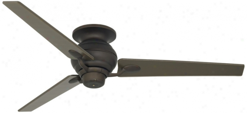"60"" Spyder Bronze Tapered Blades Hugger Ceiling Fan (r4216-t2693)"