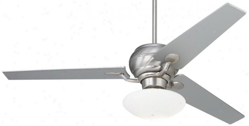 "60"" Spyder™ Brushed Steel Ceiling Fan With Light Kit (r2181-r2491-r2156)"