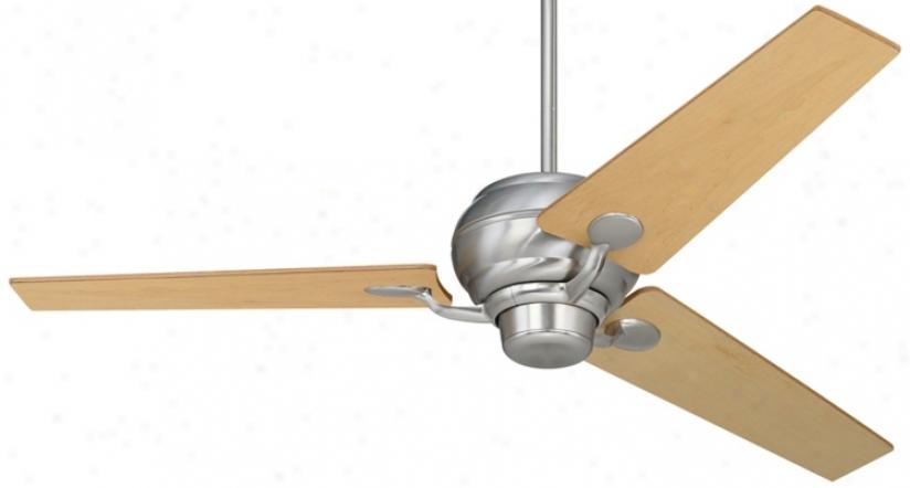 """60"""" Spyder™ Brushed Steel Maple Blades Ceiling Fan (r2181-r2490)"""