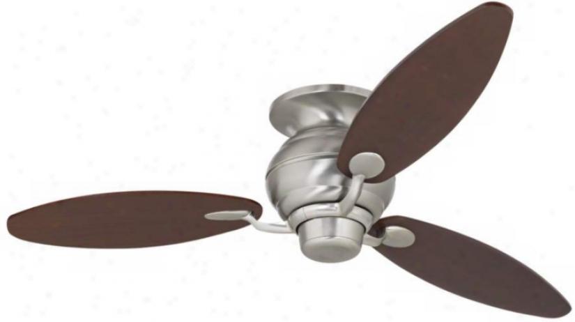 """60"""" Spyder™ Brushed Steel Walnut Hugger Ceiling Fan( r4214-t2680)"""