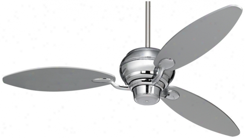 "60"" Spyder™ Chrome Three Blades Ceiling Fan (r2180-r2447)"