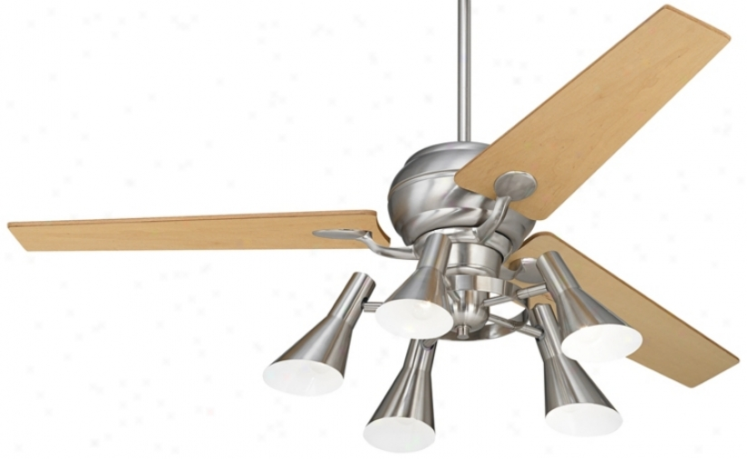 "60"" Spyder™ Steel Maple Blades 5-light Ceiling Fan (r2181-r2490-r1737)"