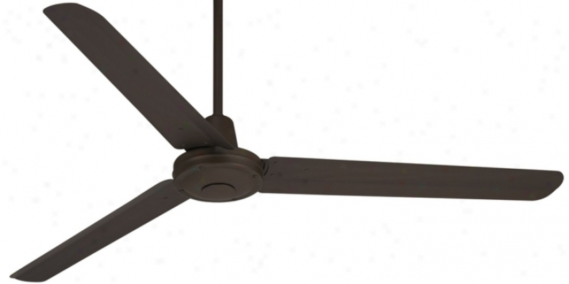 "60"" Turbina Oil-rubbed Brass Ceiling Fan (u4514)"