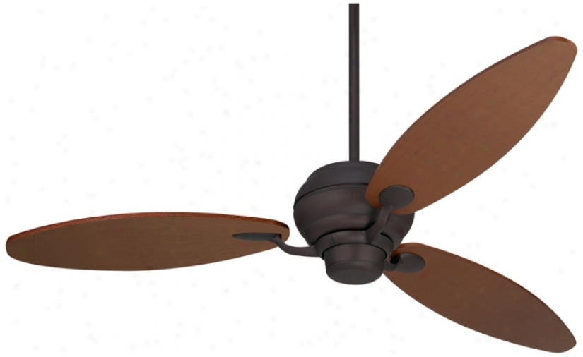 "66"" Spyder™ Espresso With Teak Blades Ceiling Fan (r2185-r2481)"