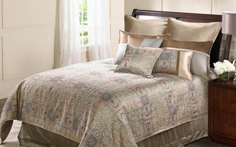 9-piece Elegance Cotton Queen Comforter Contrive (w4821)