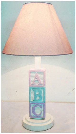 Abc With Pink Shade Table Lamp (u7908)
