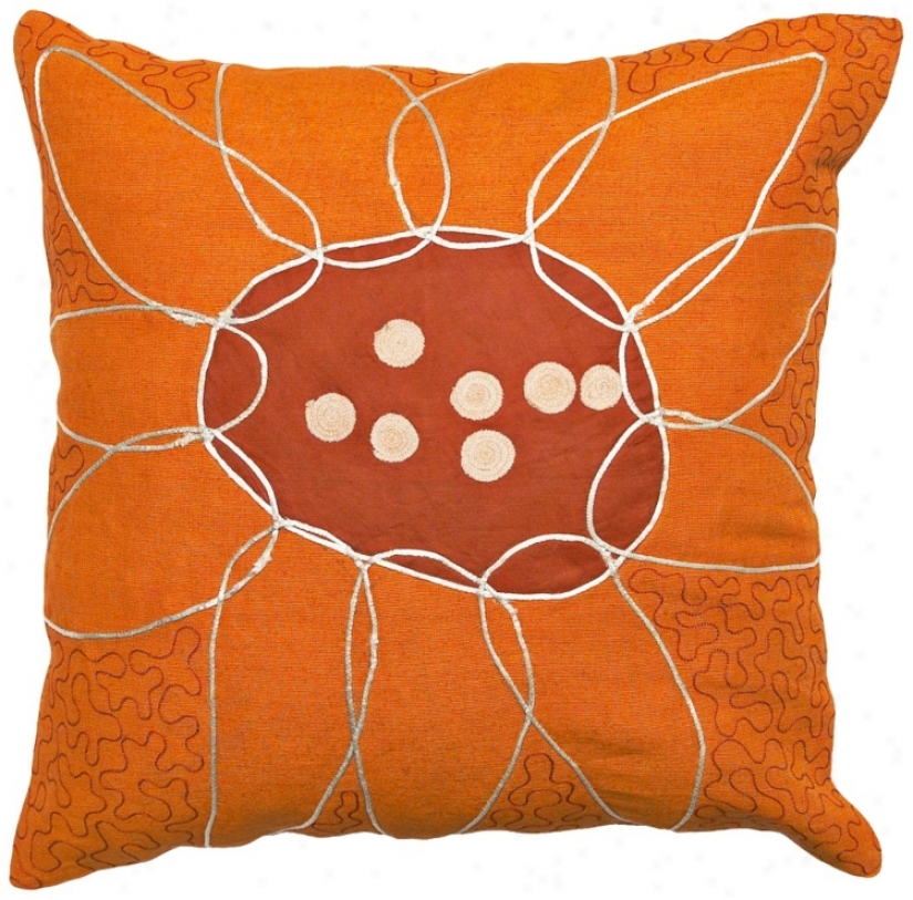Abstracy Floral Puzzlr  Pillow (f8138)