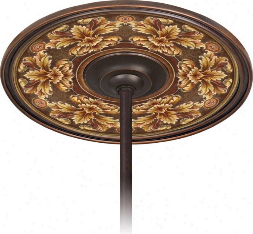 """Acanthus Noble Bronze 6 1/2"""" Aperture Ceiling Fan Medallion (h3293-m4644)"""