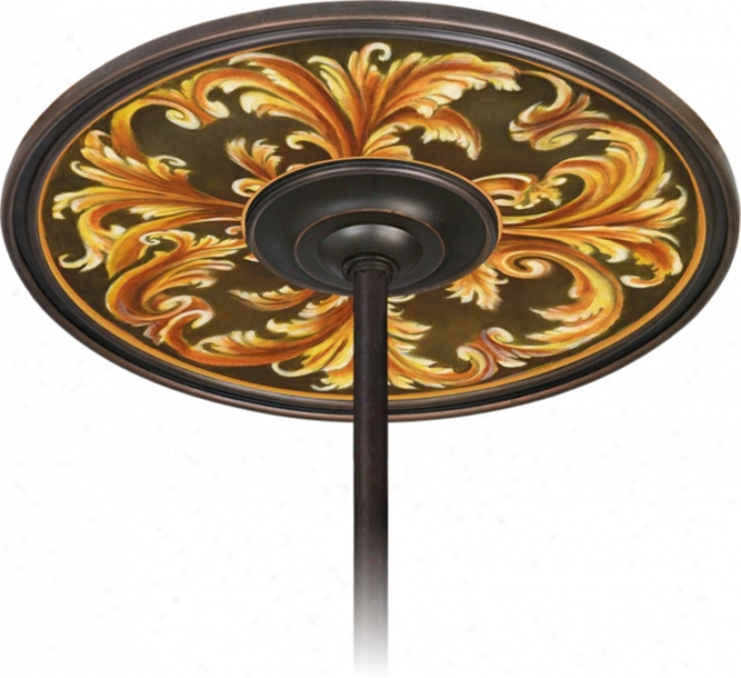 "Acanthus Regal 6 1/2"" Opening Bronze Ceiling Fan Medallion (h3293-h3640)"