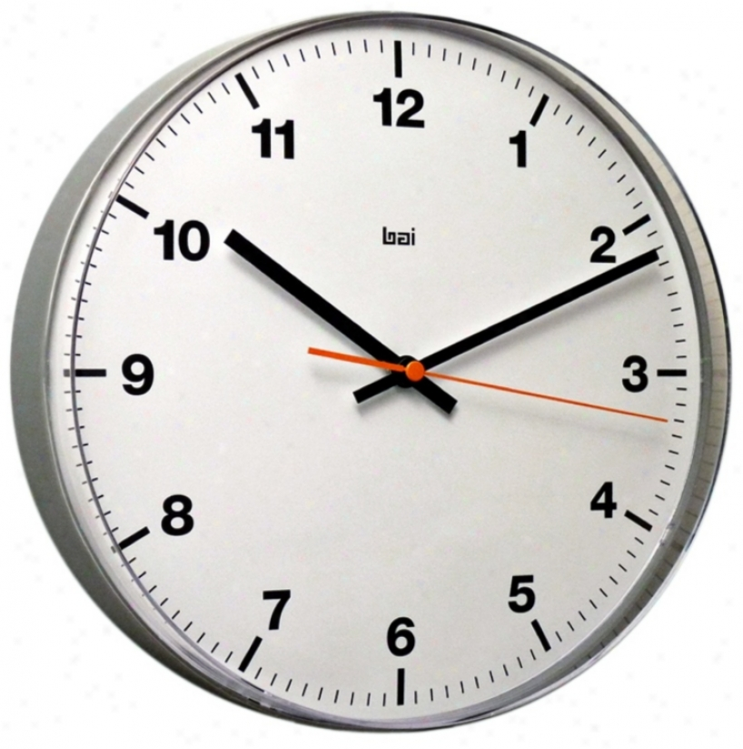 "Accurron White 11"" Wide Lucite Wall Clock (v5341)"