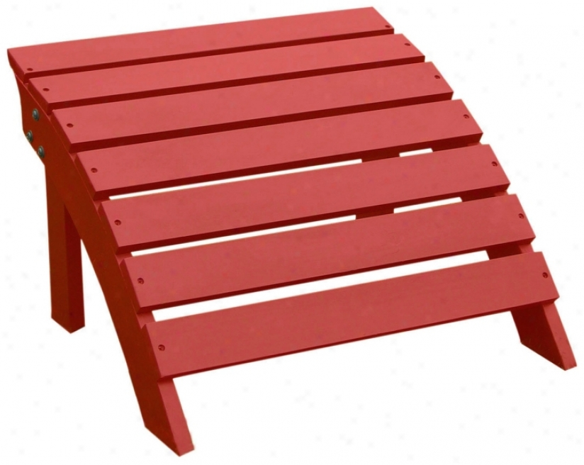 Adirondack Red Finish Wood Footrest (t4751)