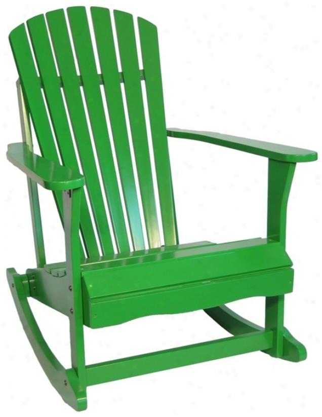 Adirondack Tropical Green Fihish Solid Wood Rocker Chair (t4763)