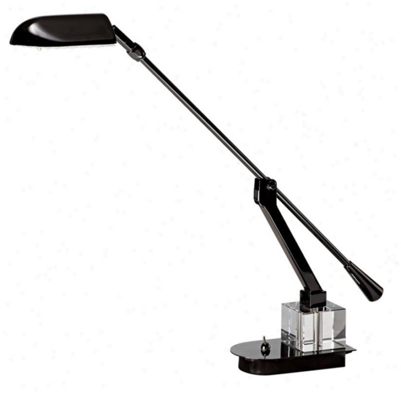 Adjustable Arm Black-chrome Led Desk Lamp (55718)