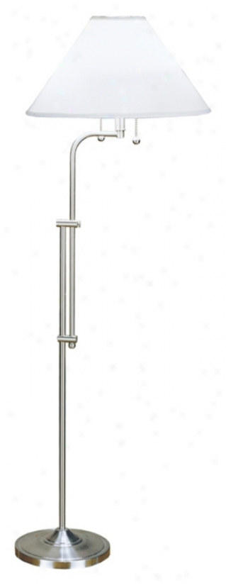 Adjustable Sight Saver Satin Nickel Floor Lamp (33586)