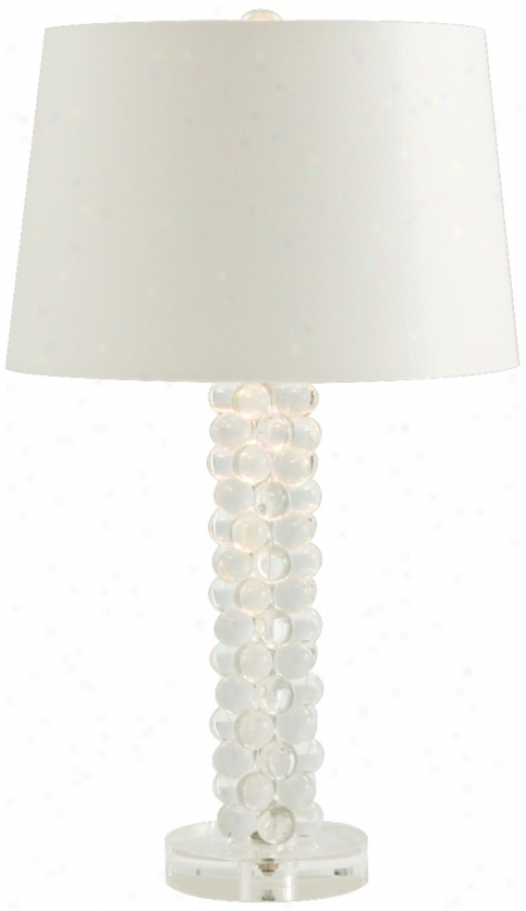 "Adrian Glass Column 25 3/4"" High Table Lamp (k4701)"