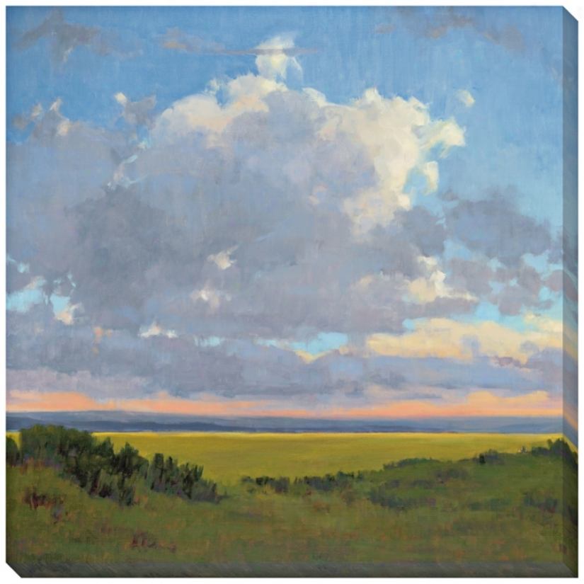 "Afternoon Sky I Limited Edition Giclee 40"" Square Wall Creation of beauty (l0476)"
