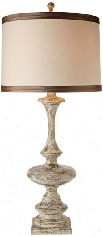 Aged Champagme Wood Finish Table Lamp (t1709)
