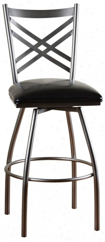 Zuo Black Concerto Adjustable Bar Stool Or Counter Stool