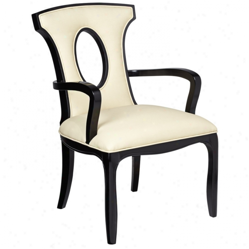 Alexis Ebony And Ivory Wood Arm Chair (t3331)
