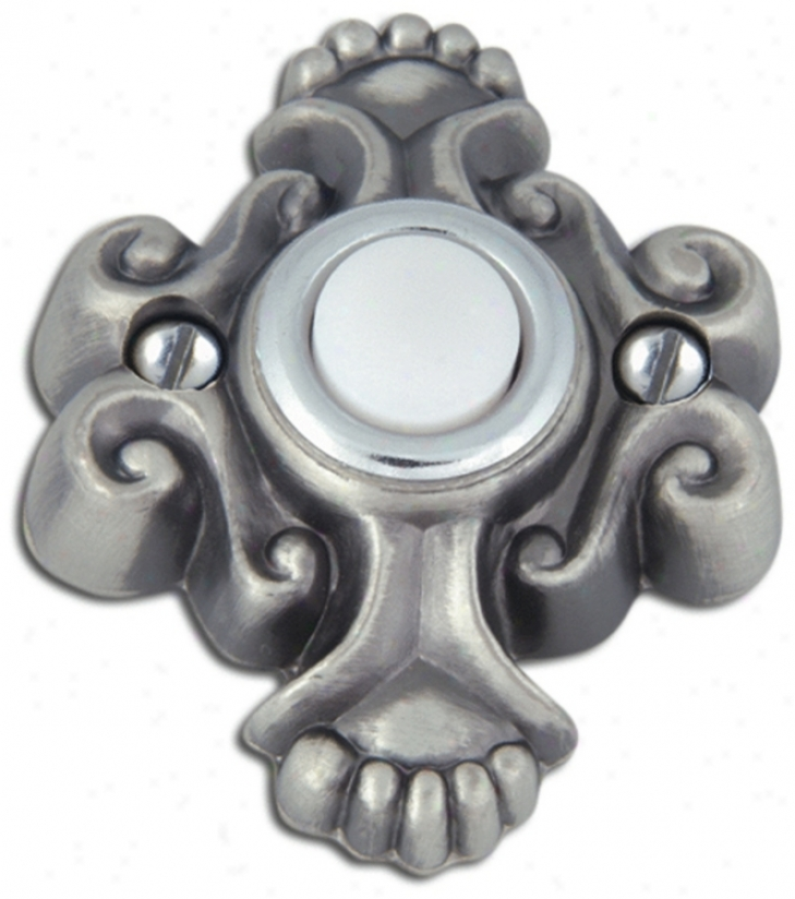 Alhambra Pewter Finish Door Bell (p2201)