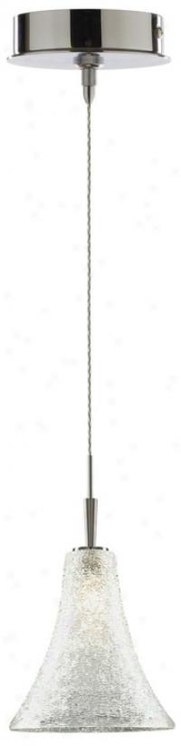 Alico Glacier Trumpet White Chrome Mini Pendant (p6896-p8011)