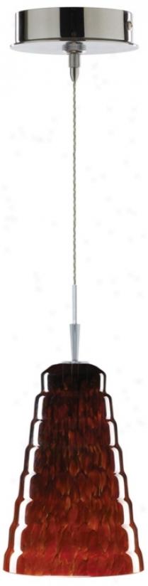 Alico Scalino Lava Glass Chrome Mini Pendant (p6295-p8011)
