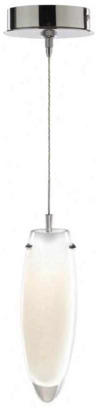 Ailco Torpedo White Opal Glass Chrkme Mini Pendant (p6792-p8011)