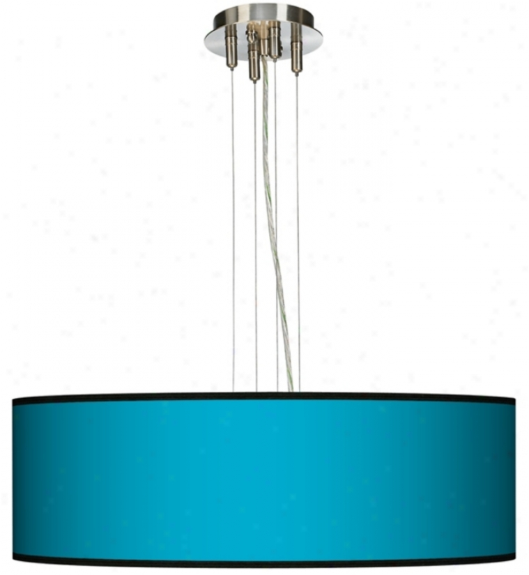 "All Aqua 24"" Wide Four Light Pendant Chandelier (17276-j8302)"
