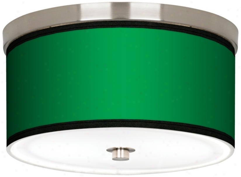 "All Green Nickel 10 1/4"" Wide Ceiling Light (j9214-k1677)"